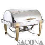 nồi buffet - Mã hàng : SNC520015 Size/ Kích thước: 635*425*440mm Capacity/ Dung tích : 9 L Marterial/ Chất liệu: thép không gỉ Nhãn hiệu : Sacona
