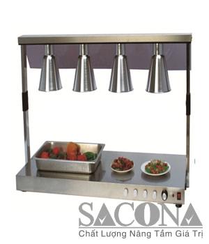 ĐÈN HÂM NÓNG THỨC ĂN 4 BÓNG Model / Mã hàng : SNC520820 Size / Kích thước: 1360*530*700 mm Materal / Chất liệu: Inox Brand / Nhãn hiệu : Sacona