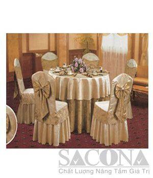 TABLECLOTH SHIRT SEAT / KHĂN BÀN ÁO GHẾ Model / Mã: SNC683411 Brand / Nhãn hiệu : Sacona