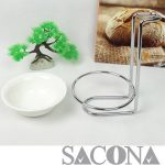 GIÁ ĐỠ VÁ SOUP ĐƠN Mã: SNC520336/1 Material / Chất liệu: Inox + Porcelain/ Inox + Sứ Brand / Nhãn hiệu : Sacona