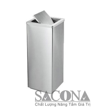 THÙNG RÁC INOX VUÔNG NẮP LẬT Model/ Mã: SNC682603