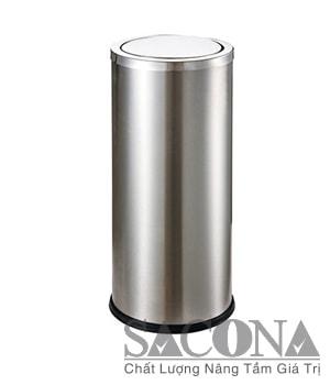 THÙNG RÁC INOX TRÒN NẮP LẬT Model/ Mã: SNC682604/1