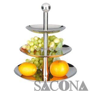 GIÁ ĐỂ TRÁI CÂY 3 ngăn Model / Mã hàng : SNC520501/1 Size/ Kích thước : 400 x 520 mm Materal / Chất liệu: While inox/ Inox trắng Brand / Nhãn hiệu : Sacona