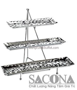 KỆ TRƯNG BÀY THỨC ĂN 3 TẦNG Model / Mã hàng : SNC520512