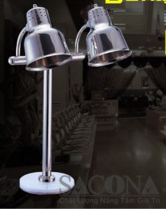 đèn hâm nóng thức ăn mặt đá