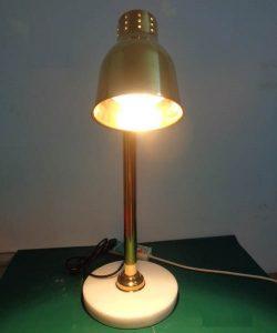 đèn hâm nóng thức ăn inox vàng đế đá