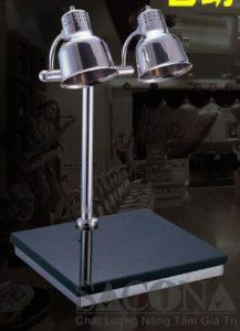 đèn hâm nóng thức ăn mặt đá granit 2 bóng