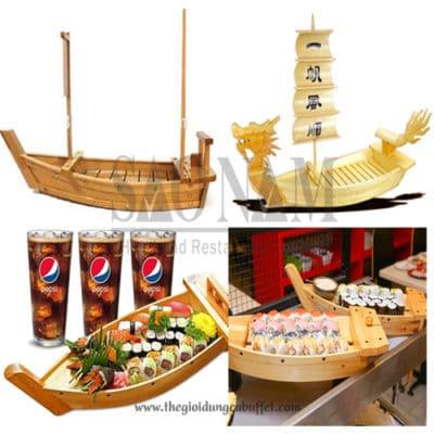 thuyền gỗ buffet